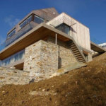 Timber frame, elevated views over river Pentire